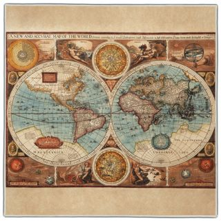 Ancient Map Pocket Square #1A