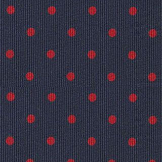 Dark Red on Dark Navy Blue Macclesfield Printed Silk Tie #MCDT-17