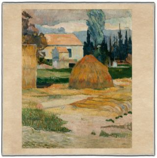 Gauguin Landscape near Arles 1888 Pocket Square #3A