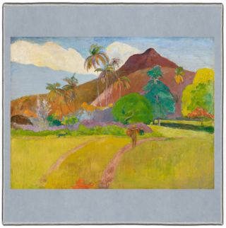 Gauguin Tahitian Landscape 1891 Pocket Square #4