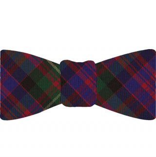 Carnegie Tartan Silk Bow Tie #TABT-6  Red, Royal Blue, Dark Green, Black & Light Yellow