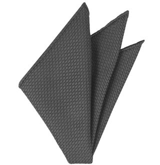 Charcoal Gray Grenadine Silk Pocket Square #20
