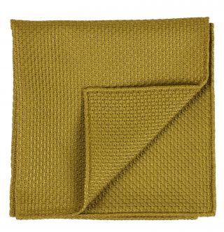 Dark Gold Grenadine Grossa Silk Pocket Square #28