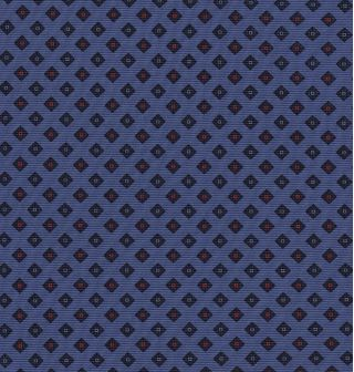 Red & Blue on Purple Blue Print Pattern Silk Tie #MCT-542