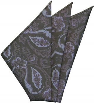 Sangdao Printed Thai Silk Pocket Square #16