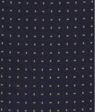 Light Gold on Midnight Blue Macclesfield Print Silk Tie #281