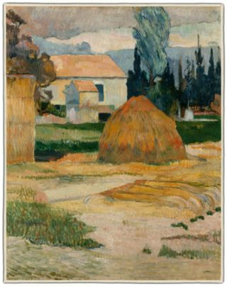 Gauguin Landscape near Arles 1888 Rectangles #3B