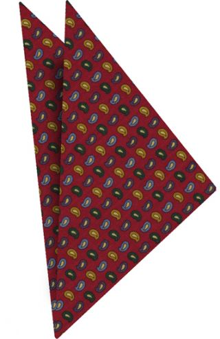 Atkinsons Printed Irish Poplin Pocket Square #5