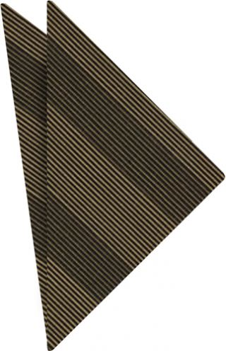 Light Brown & Black Atkinsons Striped Irish Poplin Pocket Square #58