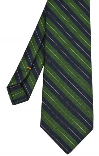 Queen's Royal Irish Hussars Stripe Silk Tie # 30