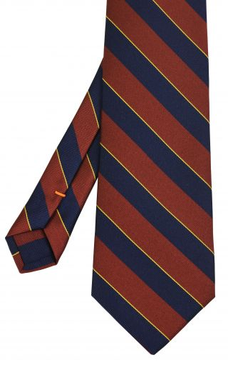 1st The Royal Dragoons Stripe Silk Tie #5