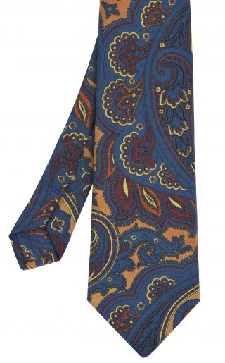 Atkinsons Printed Irish Poplin Tie #11