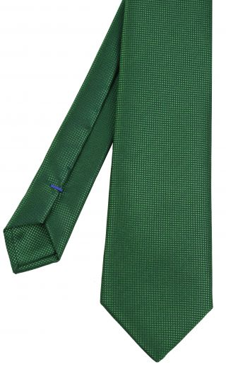 Bottle Green Diamond Weave Silk Tie #8