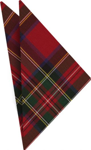 Royal Stewart Plaid Tartan Irish Poplin Pocket Square #9