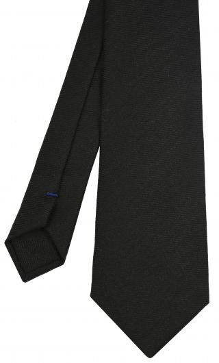 Black Wool/Silk Tie #8