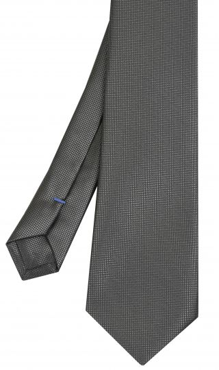 Silver Grey Diamond Weave Silk Tie #23