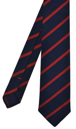 Red on Navy Mogador Striped Tie #MGST-4
