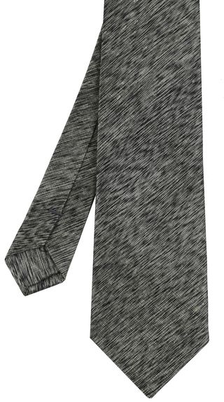 Gray & Black Thai Saiphone Silk Tie #15
