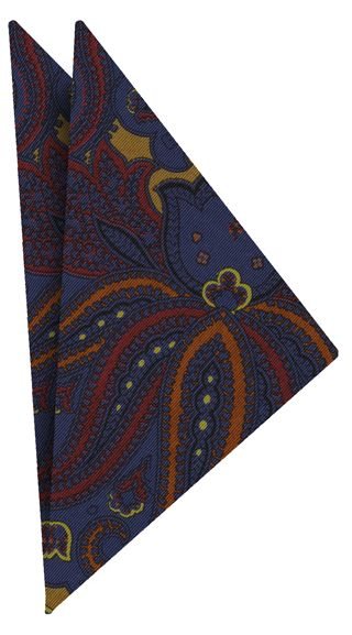 Atkinsons Printed Irish Poplin Pocket Square #11