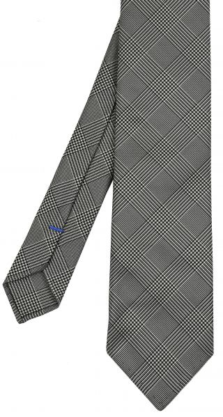 Midnight Blue & White Prince Of Wales Silk Tie #PWT-5