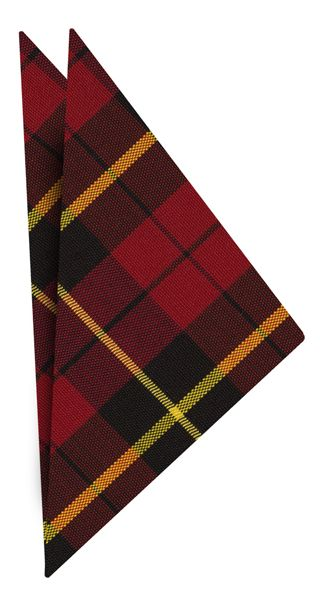 Wallace Plaid Tartan Irish Poplin Pocket Square #1