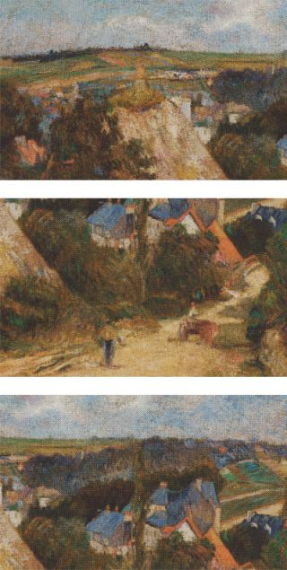 Gauguin Entrance to the Village of Osny 1882-83 Pocket Square #2