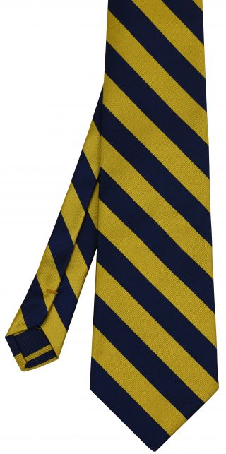 CAL Berkeley Silk Tie #34 - Navy Blue & Gold