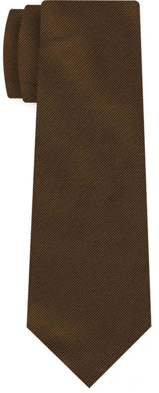 Chocolate Reppe Solid Silk Tie #22