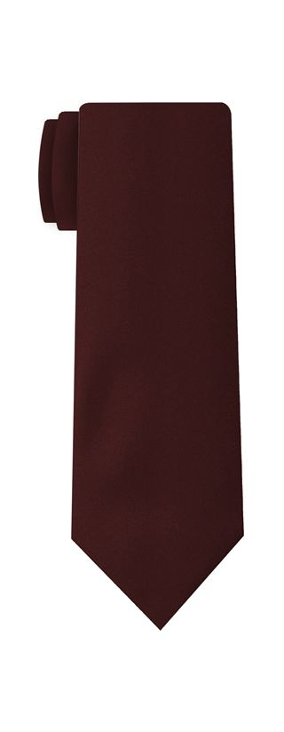 Burgundy Satin Silk Tie #11
