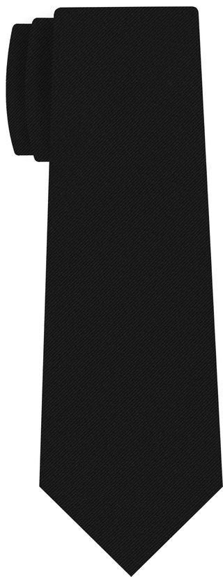 Black Faille Silk Tie #1