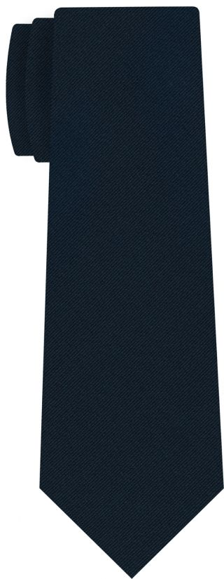 Dark Navy Blue Faille Silk Tie #5