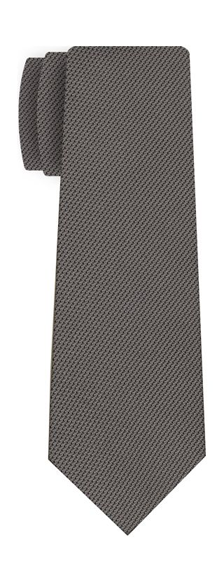 Grey Piccola Grenadine Silk Tie #13