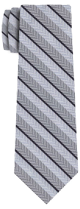 Formal/Wedding Silk Stripe Tie #6