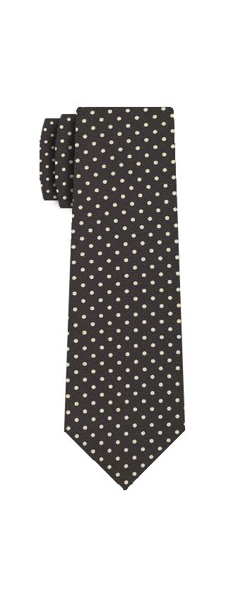 Off-White on Midnight Blue Macclesfield Silk Tie #MCDT-12