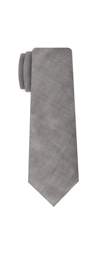 Silver Gray Shot Thai Silk Tie #16