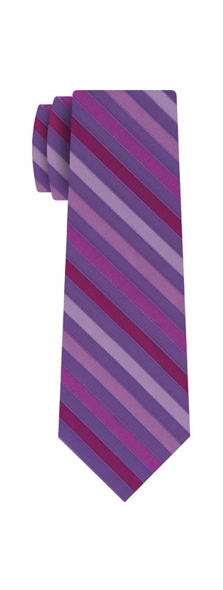 Purple, Lavender, Soft Pink & Sky Blue Striped Silk Tie #SST-17