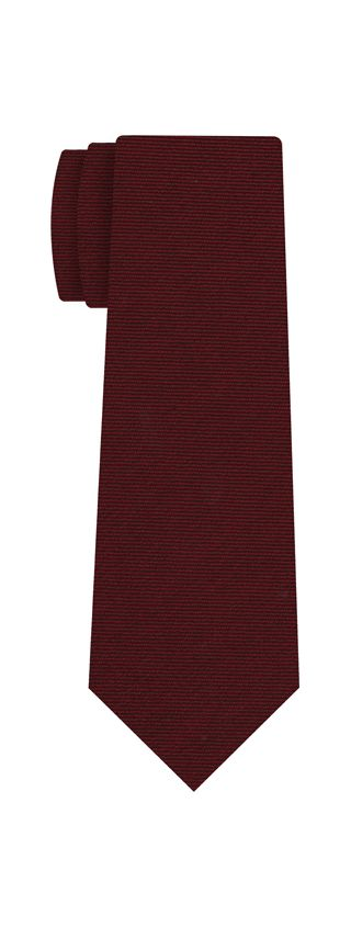 Dark Red Wool/Silk Tie #2