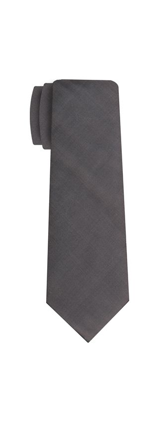 Charcoal Gray Shot Thai Silk Tie #15