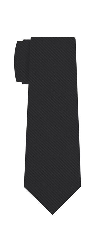 Dark Charcoal Gray Grosgrain Silk Tie #11