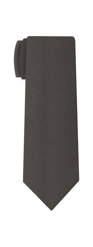 Charcoal Gray Satin Silk Tie #3