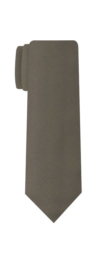 Silver Gray Satin Silk Tie #2