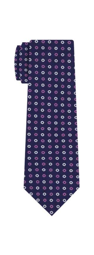 Macclesfield Printed Silk Tie #155