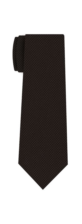 Dark Chocolate Cashmere Black Warp Tie #24