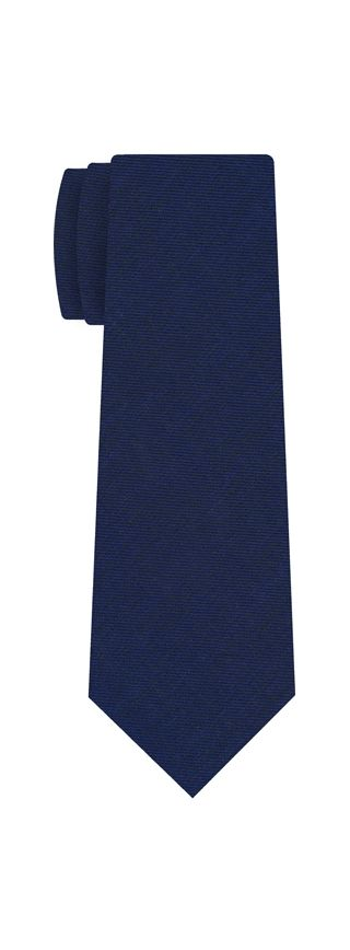 Navy Blue Linen/Cotton Silk Tie #1