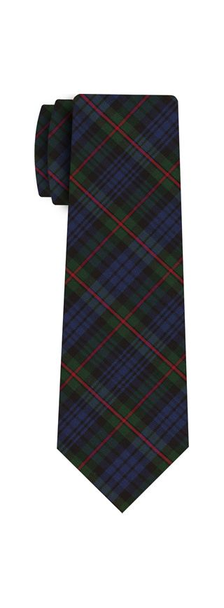 Atkinsons Plaid Irish Poplin Tie #8