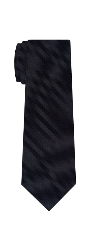 Midnight Blue Herringbone Silk Tie #HBT-2