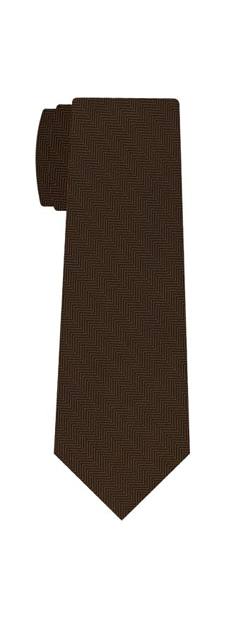Chocolate Herringbone Silk Tie #HBT-5