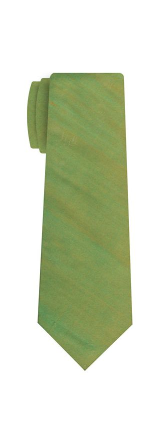 Light Young Leaf Green Thai Shot Silk Tie #71