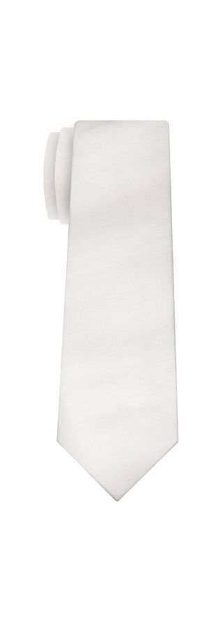 White Shot Thai Silk Tie #43