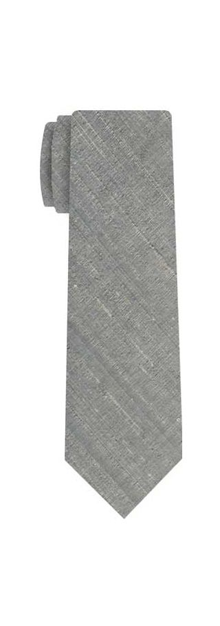 Medium Charcoal Gray Thai Rough Silk Tie #2